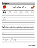 Letter A Tracing Worksheet  Handwriting Worksheets Alphabet And