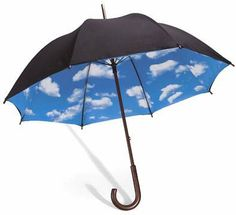 Magritte Umbrella with Clouds