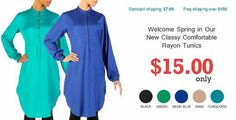 https://flic.kr/p/r4obMR | Rayon Tunics | Check out the exclusive range of gorgeous rayon tunics available in different colors.