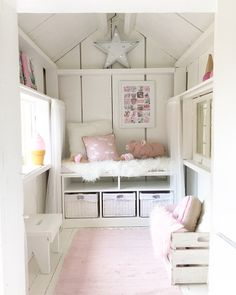 Teenage girl bedroom decor guide To avoid this, then pick the tone all on your own. You can allow them to find some good bright furniture or accents. Playhouse Decor, Playhouse Interior, Playhouse Furniture, Girls Playhouse, Backyard Playhouse, Build A Playhouse, Wooden Playhouse, Playhouse Ideas, Inside Playhouse