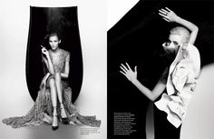 """Heroïnes Couture"" in Numéro #126 by Karl Lagerfeld"