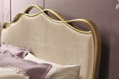 Graceful in its softness and refinement, The Ribbon Bed is a bed that will wind its way into your heart. The delicately carved frame curves French Rococo, Rococo Style, Bed With Posts, Velvet Bed, King Beds, Backrest Pillow, Home Deco, Furniture Design, Plush
