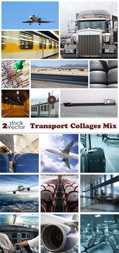 Photos - Transport Collages Mix