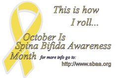 OCTOBER is Spina Bifida Awareness Month