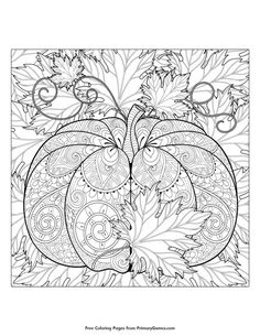 12 fall coloring pages for adults free printables fall crafts