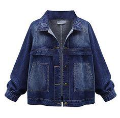 a1b17735ff21 Oladivi Women Short Jackets 2017 Autumn Casual Blue Slim Pockets Button  Single Breasted Female Denim Coat 2017 Spring Plus Size