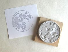 moon stamp by extase on etsy
