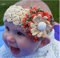 Available at TheHappyCrocheter.com (This is the pattern I got via ravelry.com that I used for Claire's headband)
