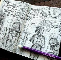 This is the best thing ever! Wish I could draw like that This is the best thing ever! Wish I could draw like that Stranger Things Quote, Stranger Things Netflix, Arte Sketchbook, Easy Drawings, Art Sketches, Fan Art, Relleno, Movies, School