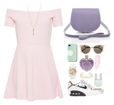 """""""Untitled #1530"""" by chrissiedinh8 ❤ liked on Polyvore featuring AX Paris, NIKE, Fendi, Aéropostale, Vera Wang and Nails Inc."""