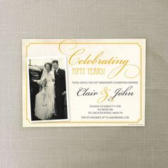 50th Anniversary Invite  Wedding by CreativeUnionDesign on Etsy, $14.00