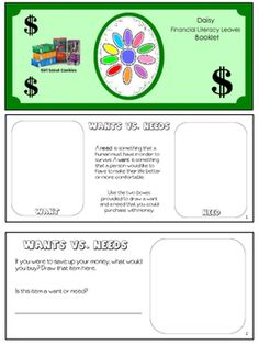 This booklet can be used along with additional activities to help your troop earn the Daisy financial leaves.