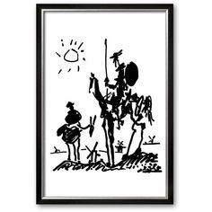 Art.com ''Don Quixote, c. 1955'' Framed Art Print By Pablo Picasso... (180 AUD) ❤ liked on Polyvore