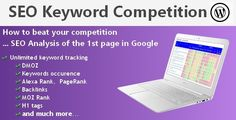 Wordpress plugin which gives you an easy but incredibly powerful way to assess the level of competition in any particular niche. No need expension tool (MS,LTP,..)...  Our SEO Keyword Competition Wordpress Plugin provides an SERP analysis of the first page in Google, telling you how hard it would be to beat your competition.  You see the first 10 URL's, plus metrics about the sites, with on-page SEO and off-page SEO; like PageRank, Alexa Rank, DMOZ, Domain Age, presence of keyword in me...