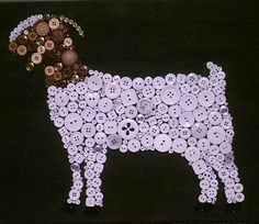 Button Art- Boer Goat Cute As A Button  Customized Button Art