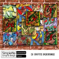 Graffitis Backgrounds (CU) papers by Simplette