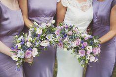 Relaxed Garden Party & Games Farm Wedding in a Raj Tent Purple Bridesmaid Bouquets, Wedding Bouquets, Wedding Flowers, Bridesmaid Dresses, Wedding Dresses, Bridesmaids, Lilac Flowers, Purple Lilac, Lavender Color