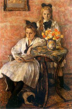 Maria And Krystyna Mankowskie - Jozef Pankiewicz (1866-1940), Polish artist.