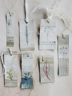 'Winter Walks' Hand-painted Landscape Tags (collection 1)