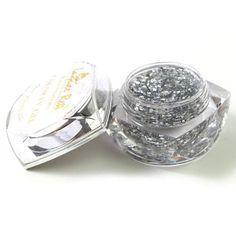 Nails gaga Nail Art Uv Gel Set Nail Art Color Gel Effect Gels Glitter Powder 20ml   big glitter silver