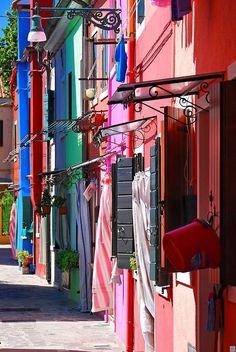 Colorful Houses, Burano Island, Venice, Italy