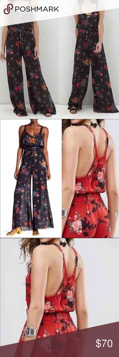 NWT Free People Leia Floral Jumpsuit NWT Free People Pants Jumpsuits & Rompers