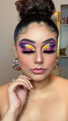 Dramatic Eye Makeup, Beautiful Eye Makeup, Colorful Eye Makeup, Colorful Eyeshadow, Purple Eyeshadow, Eyeshadow Looks, Eyeshadow Ideas, Eyeshadow Makeup, Eyeliner