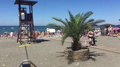 Пляж Ривьера наполняется отдыхающими. Обзор 13.07.2016. Пляжи Турции про...
