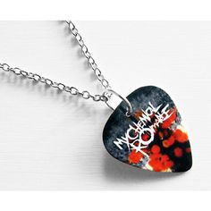 Guitar Pick Necklace: My Chemical Romance Necklace - MCR Necklace -... ($12) ❤ liked on Polyvore