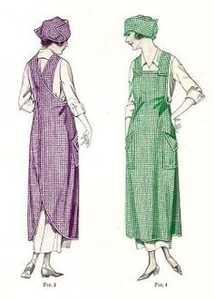 Vintage and Retro Apron Patterns. Included is a Free vintage apron pattern. Antique and Old Fashioned Apron Patterns. Apron Pattern Free, Vintage Apron Pattern, Vintage Sewing Patterns, Apron Sewing Patterns, Bonnet Pattern, Crochet Pattern, Sewing Aprons, Sewing Clothes, Diy Clothes
