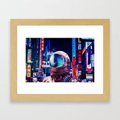 The Other Night Framed Art Print by seamless Surreal Collage, Wall Decor, Wall Art, Sci Fi Art, Wood Colors, Dark Wood, Framed Art Prints, Wall Tapestry, Digital Art
