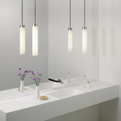 Kyoto Modern Bathroom Pendant Light - Adjustable Length