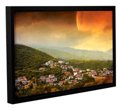 Dawn by Dragos Dumitrascu Floater Framed Wall Art on Wrapped Canvas