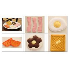 """""""Breakfast Time Play Food"""" Kids will fall in love with this fun collection of 3D breakfast food items that are made for #machineembroidery Waffles, eggs, bacon, oranges and pancakes are all here! Eat them up today! #embroidery"""