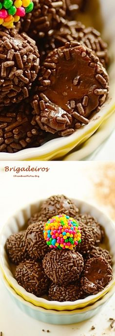 These brigadeiros (Brazilian chocolate fudge balls) can be prepared either in the microwave or on the stovetop. They are Brazil's most famous chocolate fudge balls... Only five ingredients, quick to prepare, and they come with a pictorial. #brigadeiros #brigadeiro #chocolatefudge