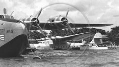 California & China Clipper Pearl Harbor 1939 - Clyde Sunderland - Black and White Photo Poster Print Flying Boat, Air Planes, Sunderland, Pearl Harbor, Vintage Travel Posters, Amphibians, Fighter Jets, Aircraft, Poster Prints