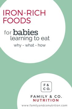 Around 6 months of age, baby is ready for solid foods. Start with iron rich foods as baby's store of iron are getting low, and that nutrient is essential for the rapid growth during the first year. Foods That Contain Iron, Vegan Baby, Iron Rich Foods, Baby Eating, Baby Led Weaning, Healthy Kids, Healthy Eating, Nutrition Tips, Healthy Relationships