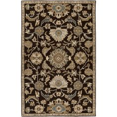 World Menagerie Topaz Hand-Tufted Dark Brown Area Rug Rug size: Square 9'9""