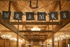 """Rustic """"Mr & Mrs"""" sign for a rustic wedding"""