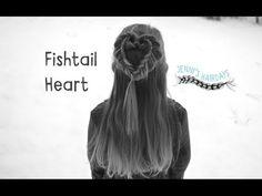 JHD Fishtail Heartbraid - YouTube