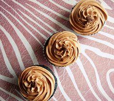 Irish Whiskey Cupcakes with Whipped Irish Cream Ganache