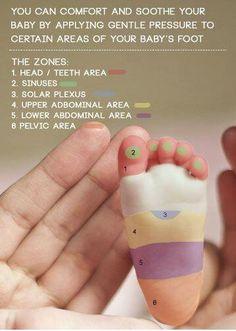 Baby reflexology.  Where to buy essential oils: www.thepaleomama.com/essential-oils