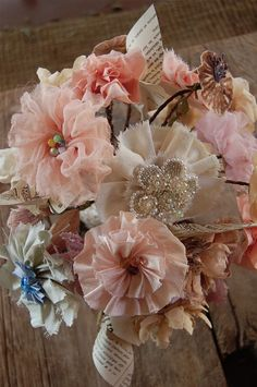 Pretty fabric flowers ..