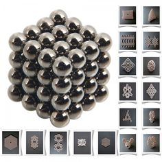 64pcs 5mm DIY Buckyballs Neocube Magic Beads Magnetic Toy Black.  Check this out at the Tmart link on MomTheShopper.
