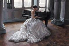 Rob 'Soneto' es una hermosa pintura que captura un maravilloso sentido de la inspiración y la imaginación.