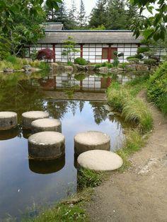 Japanese Garden Park in Nantes (France)