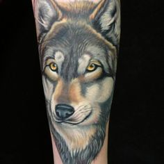 Wolf tattoo this is the coloring I want