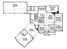 1000 images about large house plans on pinterest house for Porte cochere house plans