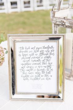 Beautifully Worded Wedding Remembrance Note For Loved Ones In Absence The Bride And Groom