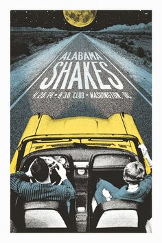 GIG POSTERS  Alabama Shakes Washington DC Posters by Lastleaf Printing -space -form -value -color -hierarchy -emphasis -rhythm